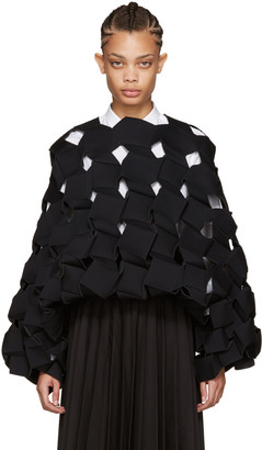 Junya Watanabe Black Cubic Sculptural Top $2,875 thestylecure.com