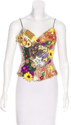 Mandalay Embellished Bustier Top