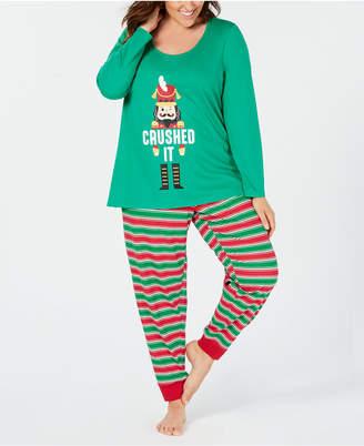 Matching Family Pajamas Plus Size Women's Crushed It Stripe Pajama Set