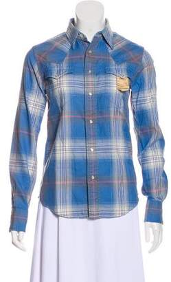 Co RRL & Snap Front Plaid Top w/ Tags