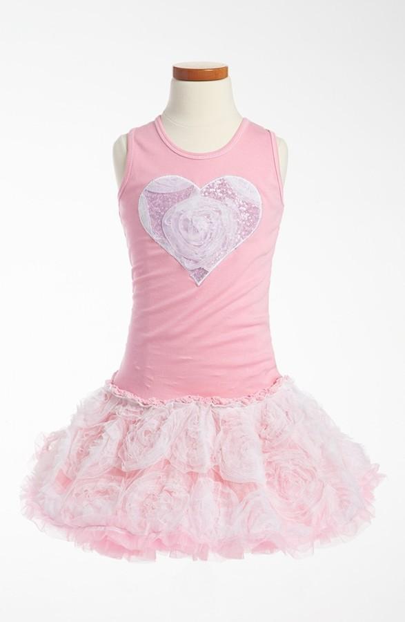 Ooh! La Ooh! La, La! Couture Tulle Flower Dress (Little Girls & Big Girls)