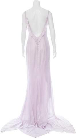 Nina Ricci Ruffle=Trimmed Maxi Dress w/ Tags