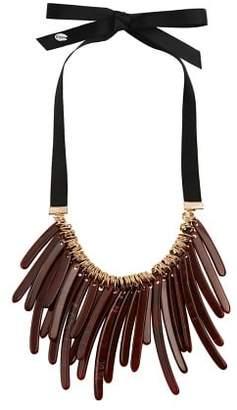Violeta BY MANGO Resin pendant necklace
