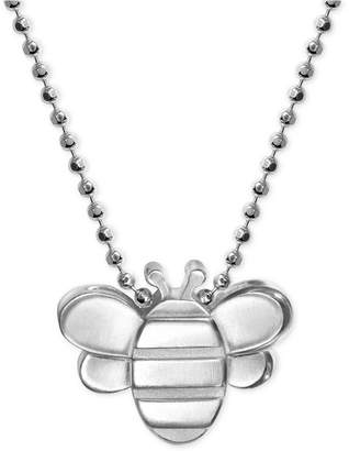 Alex Woo Bumble Bee Pendant Necklace in Sterling Silver