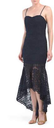 Designed In Australia Hi Lo Lace Dress