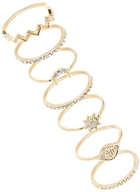 Forever 21 Rhinestone-Embellished Stackable Ring Set