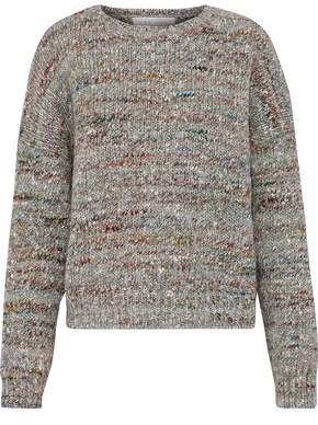 IRO Mélange Ribbed Wool Alpaca And Silk-Blend Sweater