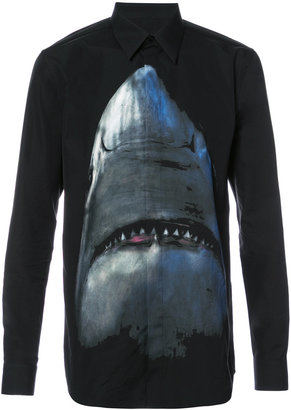 Givenchy shark print shirt $835 thestylecure.com