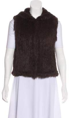 Tory Burch Hooded Fur Vest