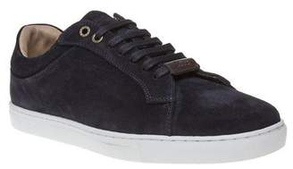 BOSS New Mens Blue Tribute Tenn Suede Trainers Lace Up