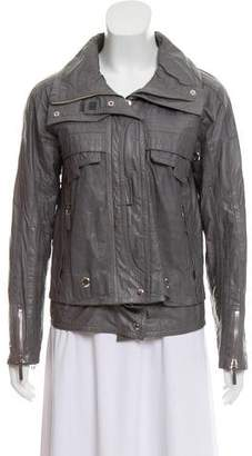 Gucci Leather Cargo Jacket