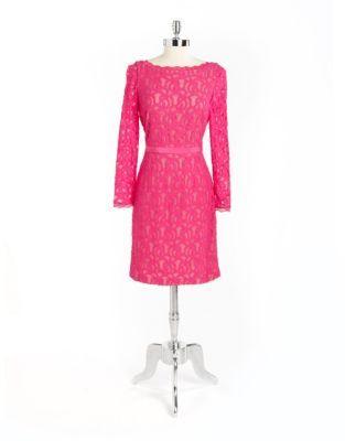 Nine West Lace V-Back Dress