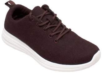 Freeshield Women's Real Wool Casual Burgundy Shoe