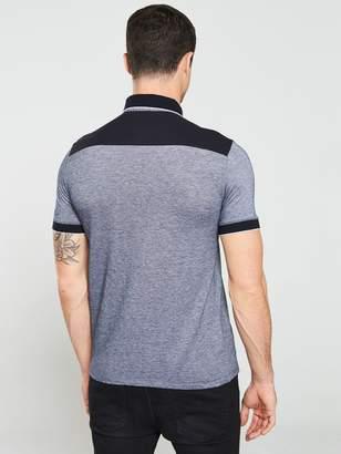 Tipped Pique Polo Shirt - Navy