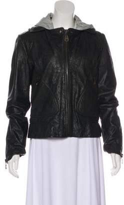 Doma Layered Leather Jacket