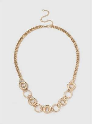 Evans Gold Chunky Chain Necklace
