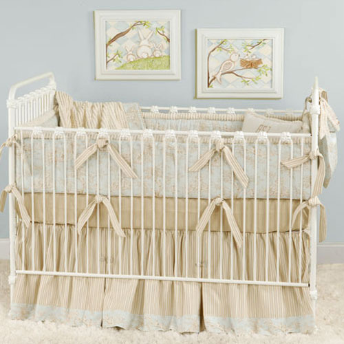 Taylor's Toile Baby Bedding in Blue
