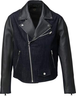 MCM Men's Denim And Leather Rider Jacket