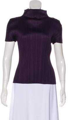 Pleats Please Issey Miyake Tonal Sleeveless Top