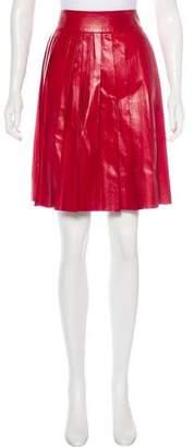 Miu Miu Leather Knee-Length Skirt