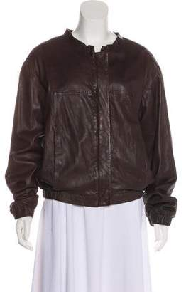 See by Chloe Leather Collarless Jacket