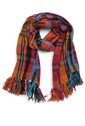 David & Young Plaid Chenille Scarf
