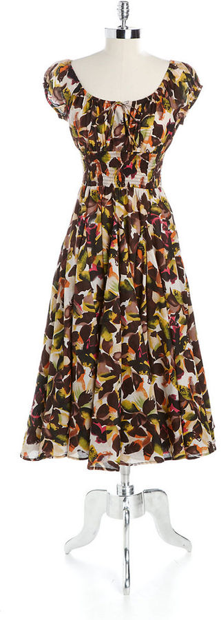 Chelsea & Theodore Printed Cotton Dress