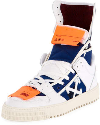 Off-White Men's High 3.0 Leather High-Top Sneakers