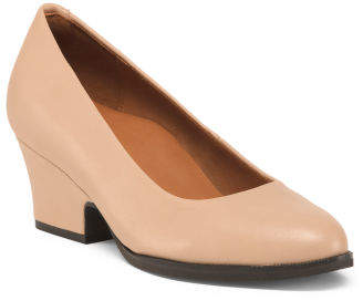 All Day Comfort Soft Leather Pumps