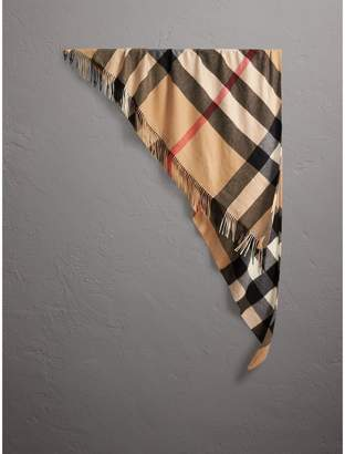 Burberry Check Cashmere Wrap