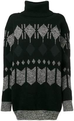 Junya Watanabe geometric knit sweater