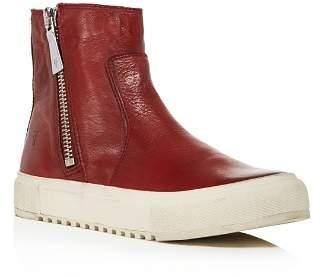 Frye Women's Gia Side Zip Leather High Top Sneakers