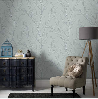 Graham & Brown Water Silk Sprig Wallpaper