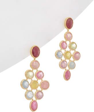 Marco Bicego Siviglia 18K Yellow Gold Sapphire Drop Earrings