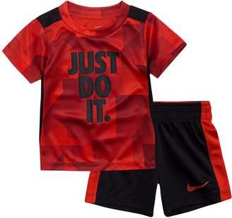 """Nike Toddler Boy Just Do It"""" Tee & Shorts Set"""