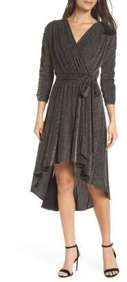 Chelsea28 Metallic Wrap Dress