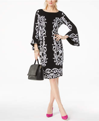 INC International Concepts I.n.c. Bell-Sleeve Sheath Dress, Created for Macy's