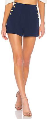 Alice + Olivia Donald High Waist Side Button Shorts