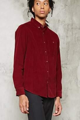 Forever 21 Slim-Fit Corduroy Shirt