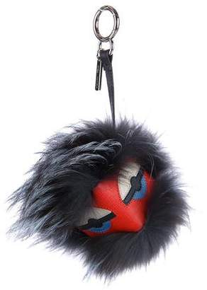 Fendi Nutty Bag Fur Monster Charm