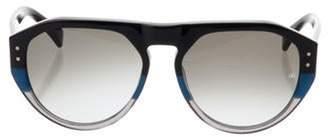 Oliver Goldsmith Gopas Round Sunglasses Black Gopas Round Sunglasses