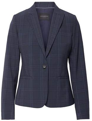 Banana Republic Petite Classic-Fit Washable Italian Wool-Blend Blazer