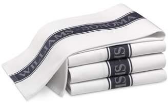 Williams-Sonoma Williams Sonoma Classic Logo Towels, Set of 4, Navy Blue