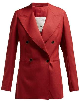 Giuliva Heritage Collection The Stella Double Breasted Wool Blazer - Womens - Burgundy
