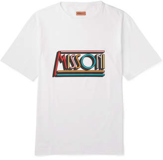 Missoni Logo-Print Cotton-Jersey T-Shirt - White