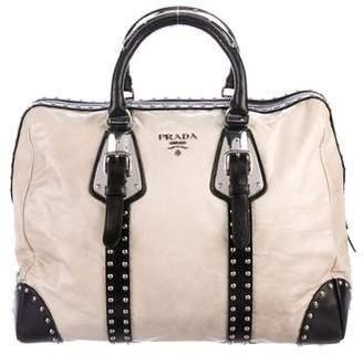Prada Trunk Studded Doctor Bag