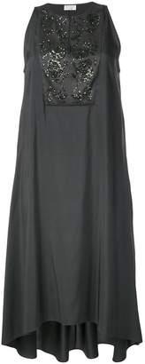 Brunello Cucinelli sequin embroidered sleeveless dress