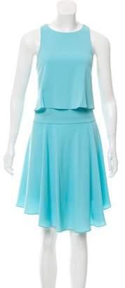 Tibi Sleeveless Flared Knee-Length Dress