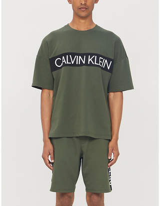 Calvin Klein Logo-print cotton-blend shorts