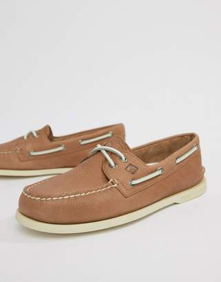 Sperry Daytona Boat Shoes In Tan
